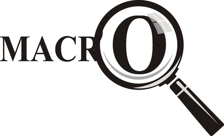 Macro Magnifying glass on background Stock Vector - 19096501
