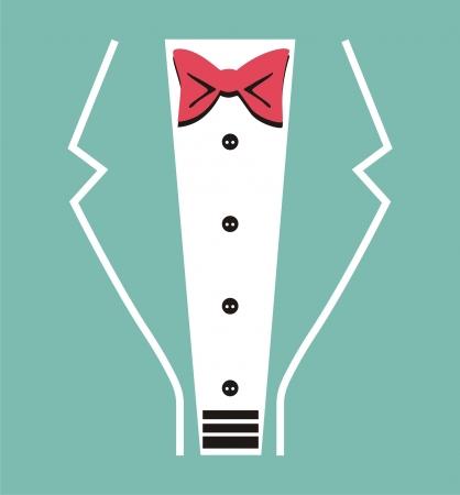 bosom:  Vector tuxedo with bow tie
