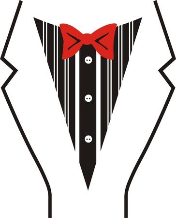 bosom: Tuxedo Vector con la pajarita