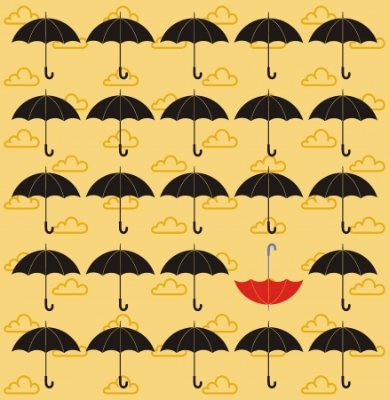 umbrella seamless vector Stock Vector - 19096536