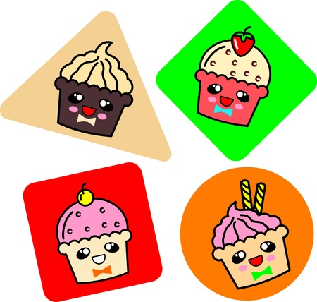 cupcake  in doodle style Stock Vector - 19371197