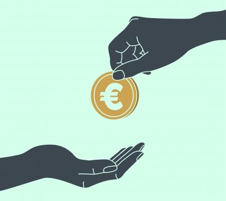 beggars: Hands Giving & Receiving Money