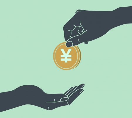 Hands Giving & Receiving Money Vector