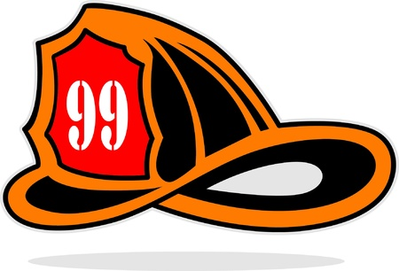 Feuerwehrmann Helm Vektorgrafik