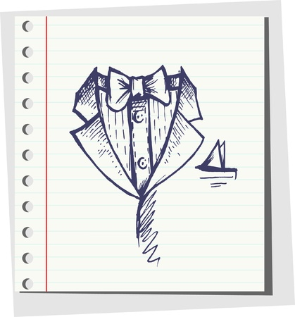 dressy: Doodle Vector tuxedo with bow tie