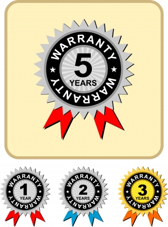 1,2,3,5 warranty , vector illustration