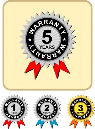 surety:  1,2,3,5 warranty , vector illustration
