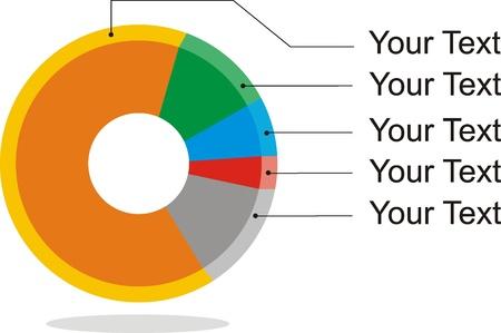 illustration of simple pie diagram