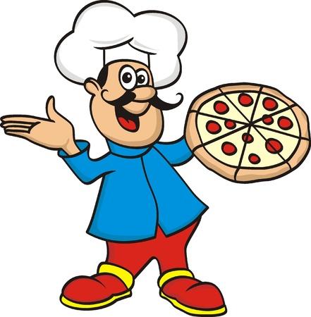 le chef de la pizza