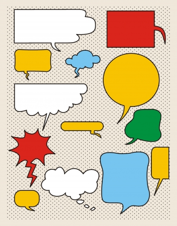 Vector comics speech bubbles  Stock Vector - 21023264