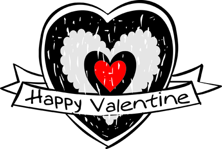 Valentine s day labels Vector