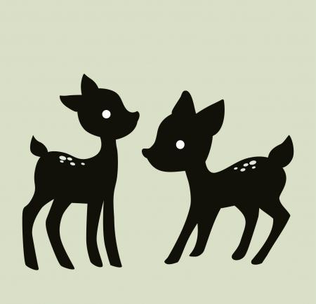 roe deer: deer vector image isolated on  background