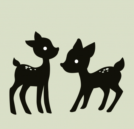 deer vector image isolated on  background