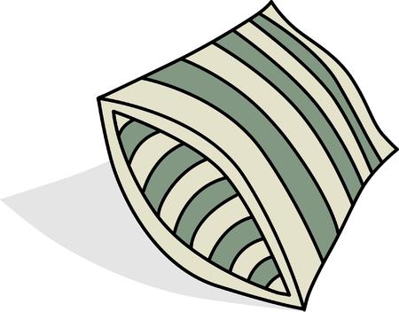 headboard: vector of pillow