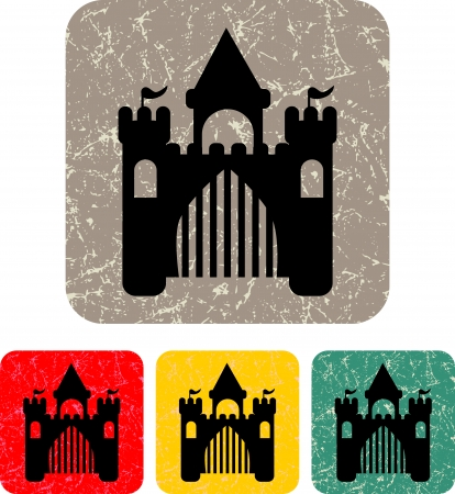royal castle - Vector icon isolated