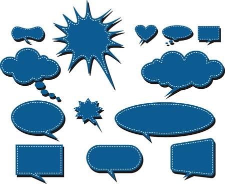 Vector comics speech bubbles illustration Stock Vector - 22198534