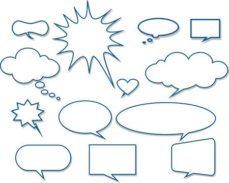 Vector comics speech bubbles illustration Stock Vector - 22198535