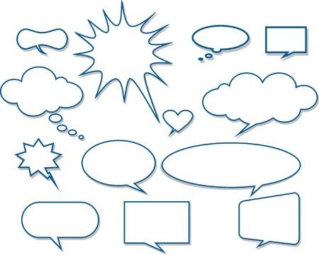 Vector comics speech bubbles illustration