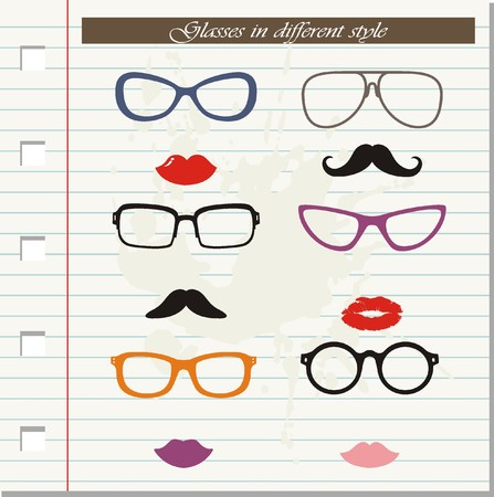cat's eye glasses: Glasses in different styles