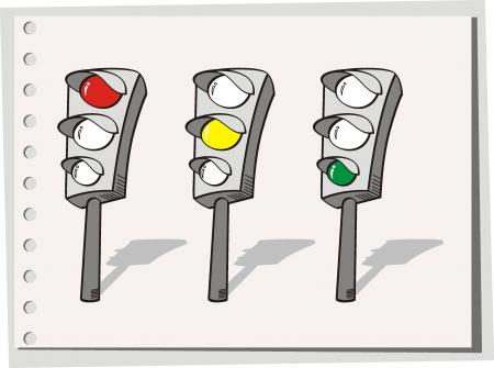トラフィック ライト  イラスト・ベクター素材