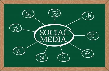 Modern social media abstract scheme Stock Vector - 22198830