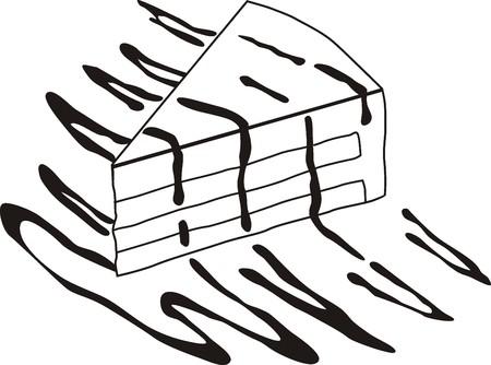 piece of cake doodle Stock Vector - 22199074