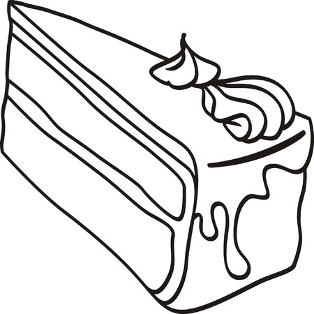 trozo de pastel: pedazo de pastel garabato