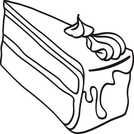 Stück Kuchen doodle