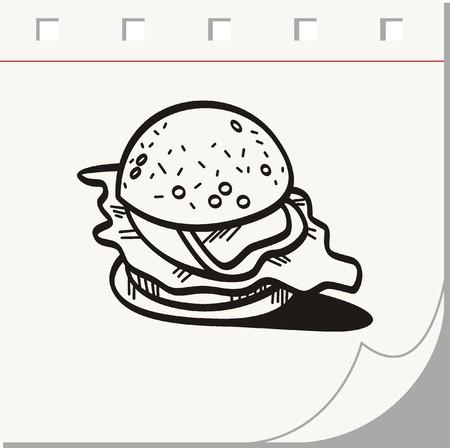 lowbrow: hamburger doodle