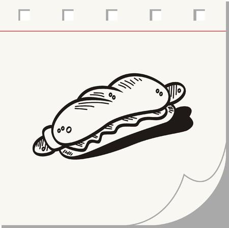 lowbrow: hotdog Doodle