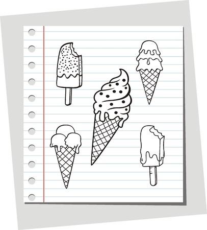 pick light: vector ice cream Illustration
