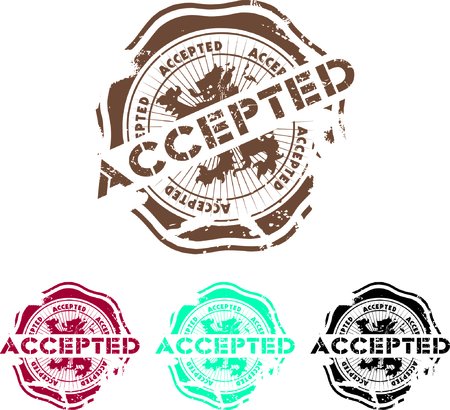 canceled:  rubber stamp with the word accepted