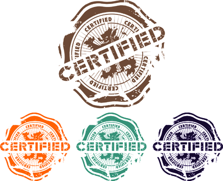 canceled:  rubber stamp with the word certified