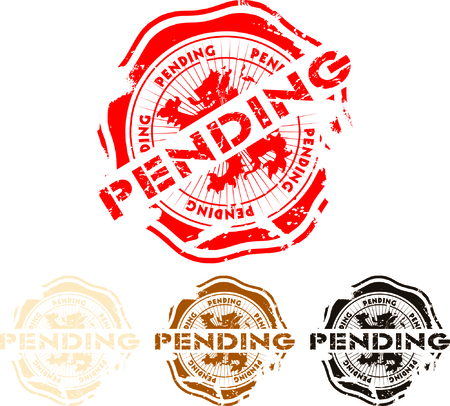 rubber stamp with the word pending Vector