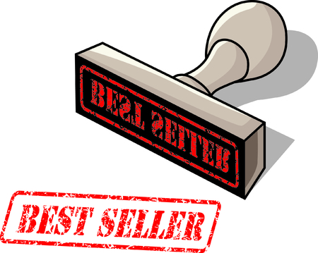 rubber stamp with the word best seller Stock Vector - 22772686