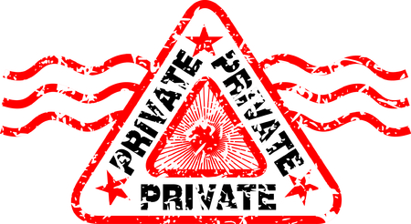 rubber stamp with the word private Illustration