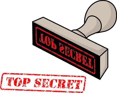 rubber stamp with the word top secret Vector