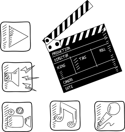 film set clapper   vector illustration  Stock Vector - 23661774