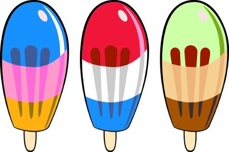 pick light: vector ice cream on white background  Illustration