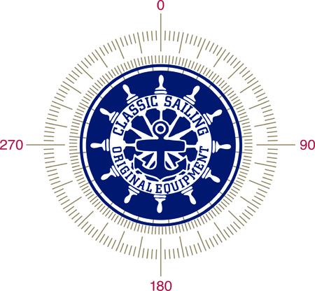 vintage sailing emblem  Illustration