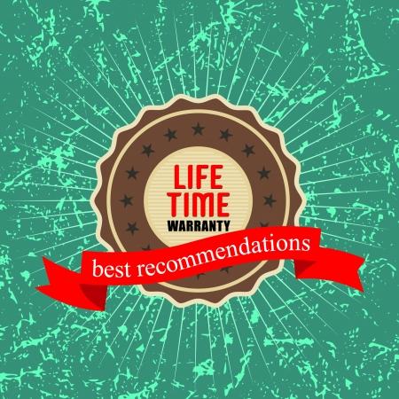 lifetime: lifetime warranty , illustration