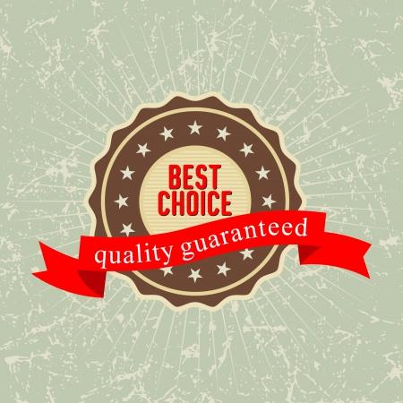 beste keuze etiket, illustratie