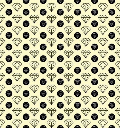 Diamonds seamless pattern Stock Vector - 24076659