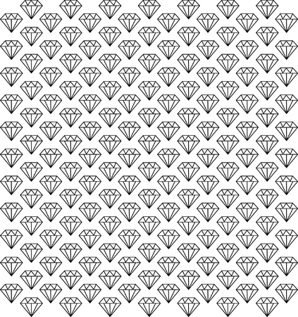 Diamonds seamless pattern  Stock Vector - 24094396