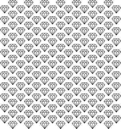 Diamonds seamless pattern Stock Vector - 24094396