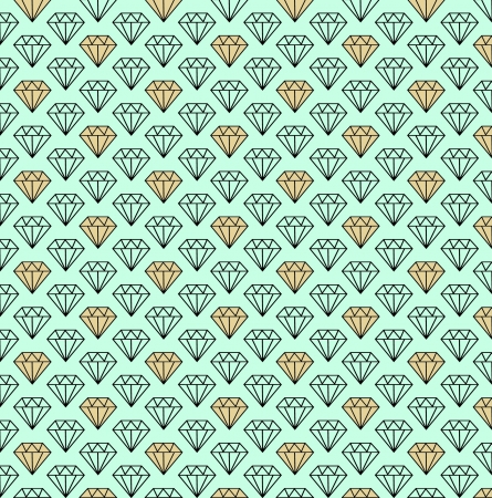 Diamonds seamless pattern  Stock Vector - 24094398