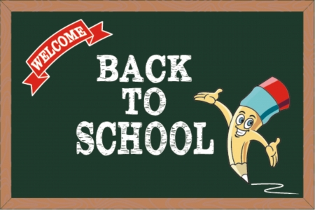 intermediate: Welcome back to school, vector illustration