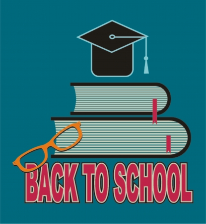 back to school, vector illustration   Vector