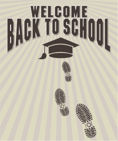 welcome back to school, vector illustration