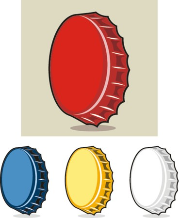 bottle caps vector illustration  Vector